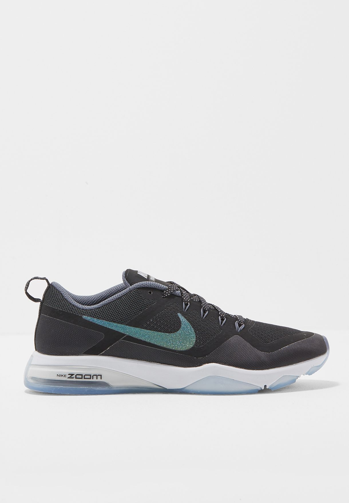 a8c62bcf77a13 Shop Nike black Air Zoom Fitness Metallic 922877-001 for Women in ...