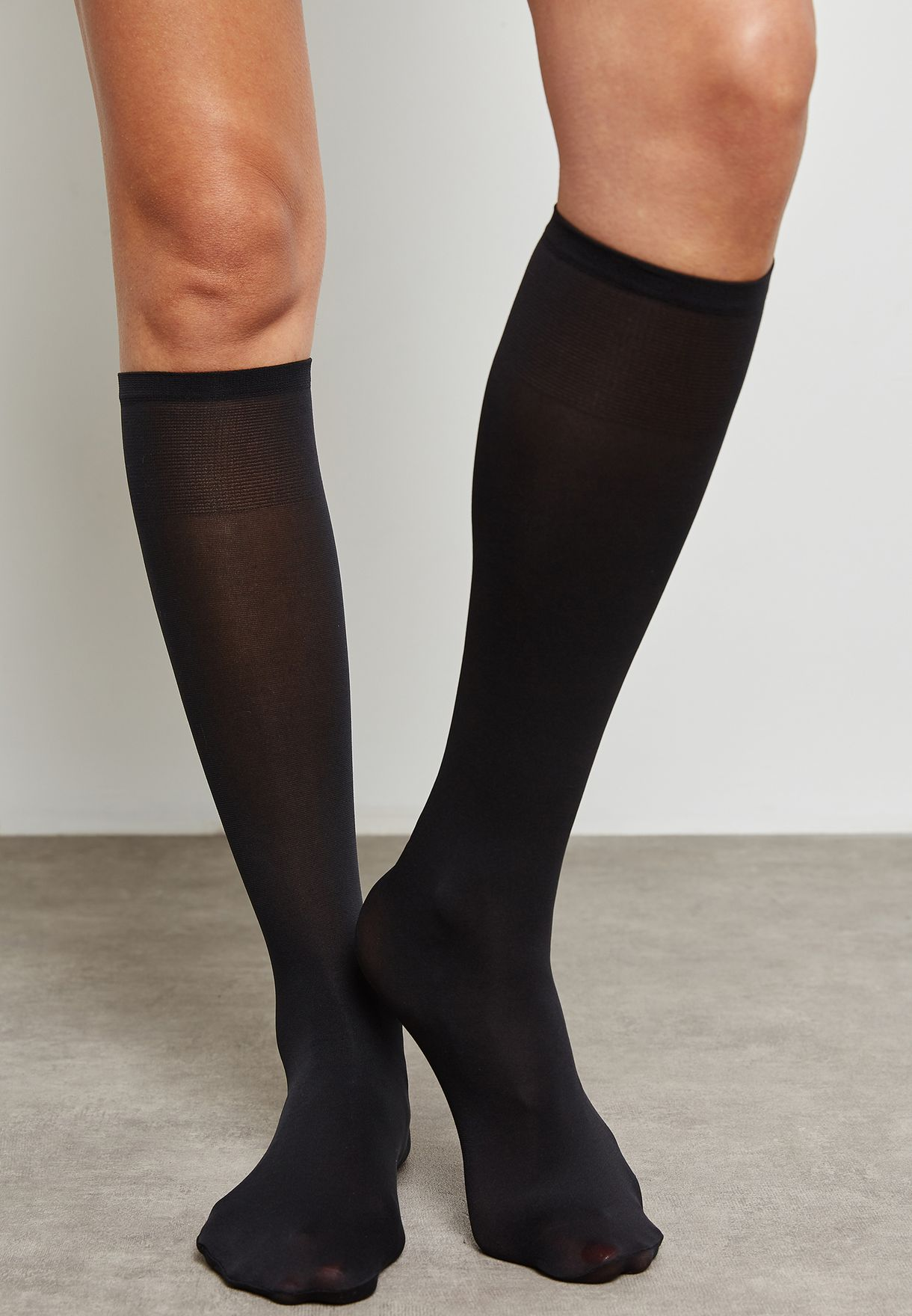 c89767f360154 Shop Evans black Opaque Tights 22K17YBLK for Women in UAE - EV855AT70QER