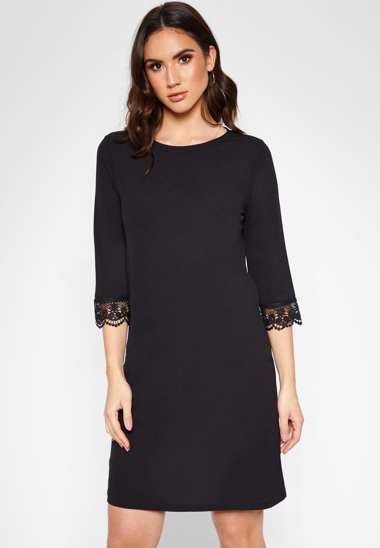 Lace Hem Sleeve Dress