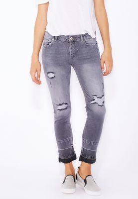 MANGO Distressed Crop Jeans