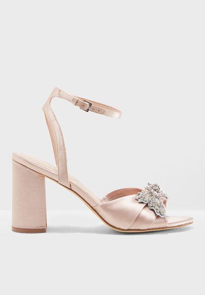 Mid Heel Block Sandal