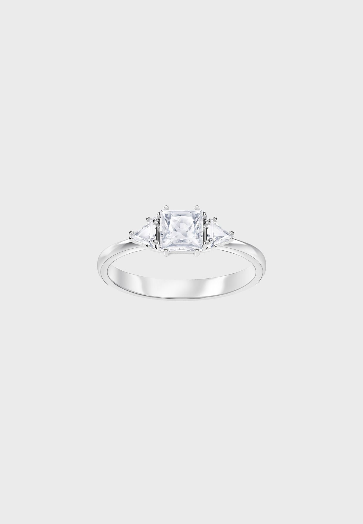 35ff85af3 Shop Swarovski silver Attract Trilogy Ring 5402447/5402434/5371381 ...