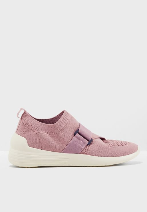 Aima Buckle Knit Sneakers