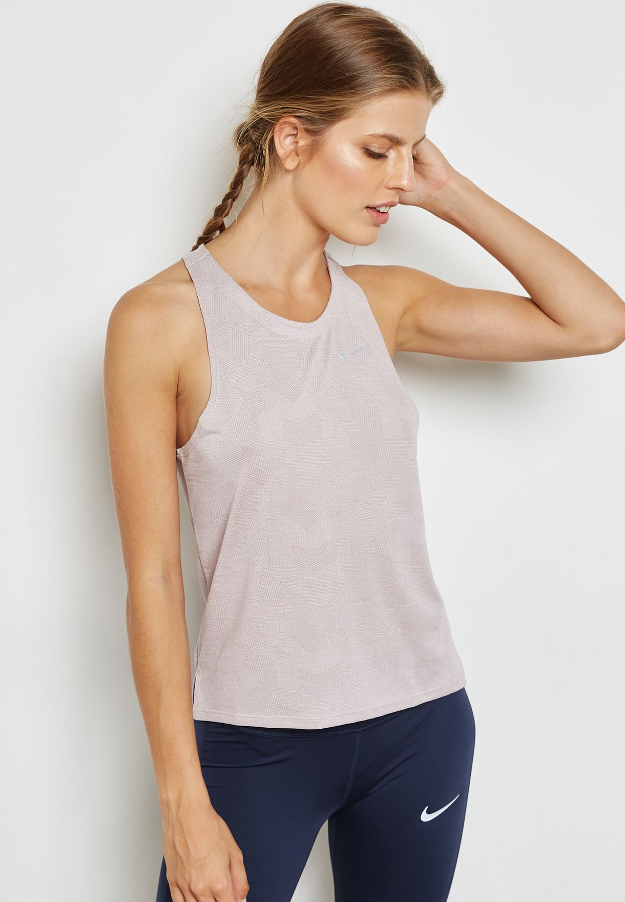 Especial Ministerio Flotar  Shop Nike pink Dri-FIT Medalist Heather Tank 899344-684 for Women ...