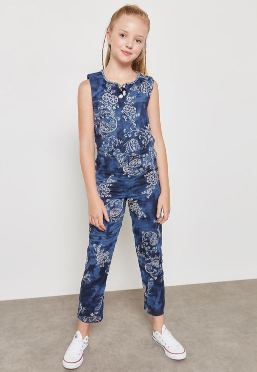 Teen Capucine Printed Jumpsuit
