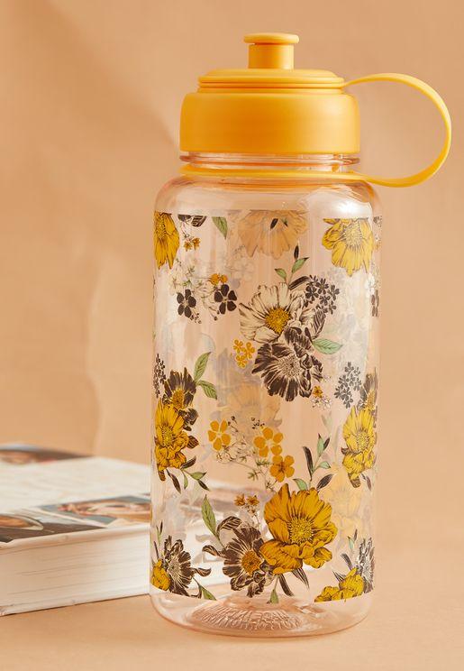Large Ochre Floral Bottle