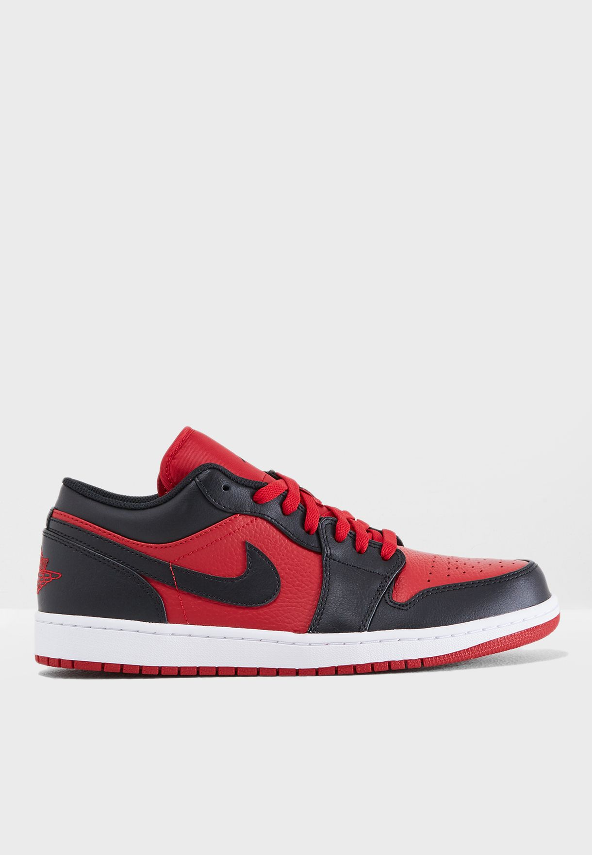 589d337679ad80 Shop Nike red Air Jordan 1 Low 553558-610 for Men in Kuwait ...