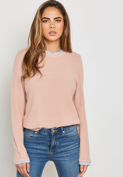 Ruffle Detail Sweater