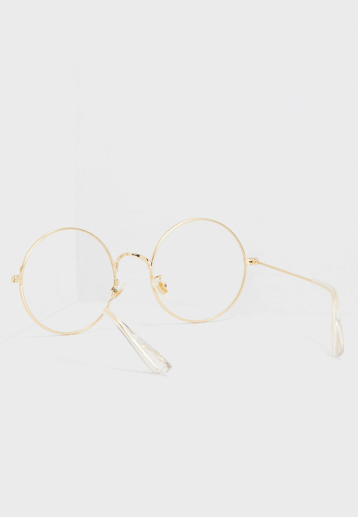 Round Clear Glasses