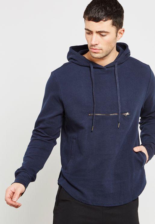 Radburn Zip Pocket  Hoodie