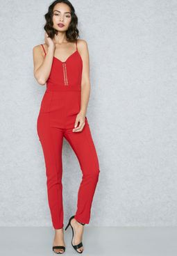 Contrast Deatil Jumpsuit