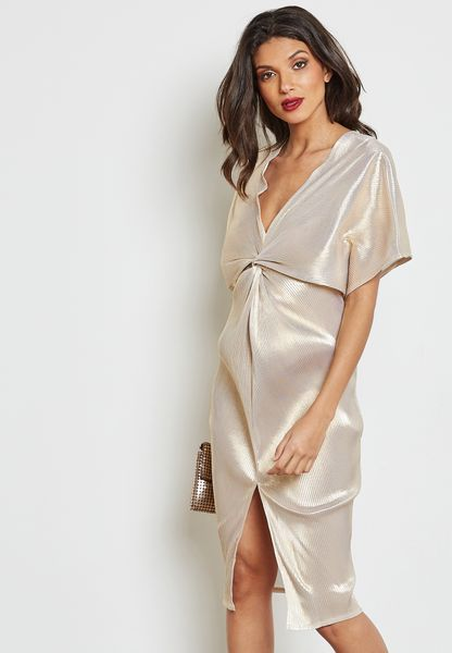 Foil pleat Dress