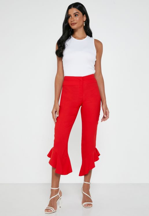 Ruffle Crop Pants