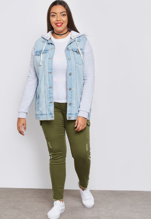 Mid Wash Ripped Ankle Grazer Skinny Jean