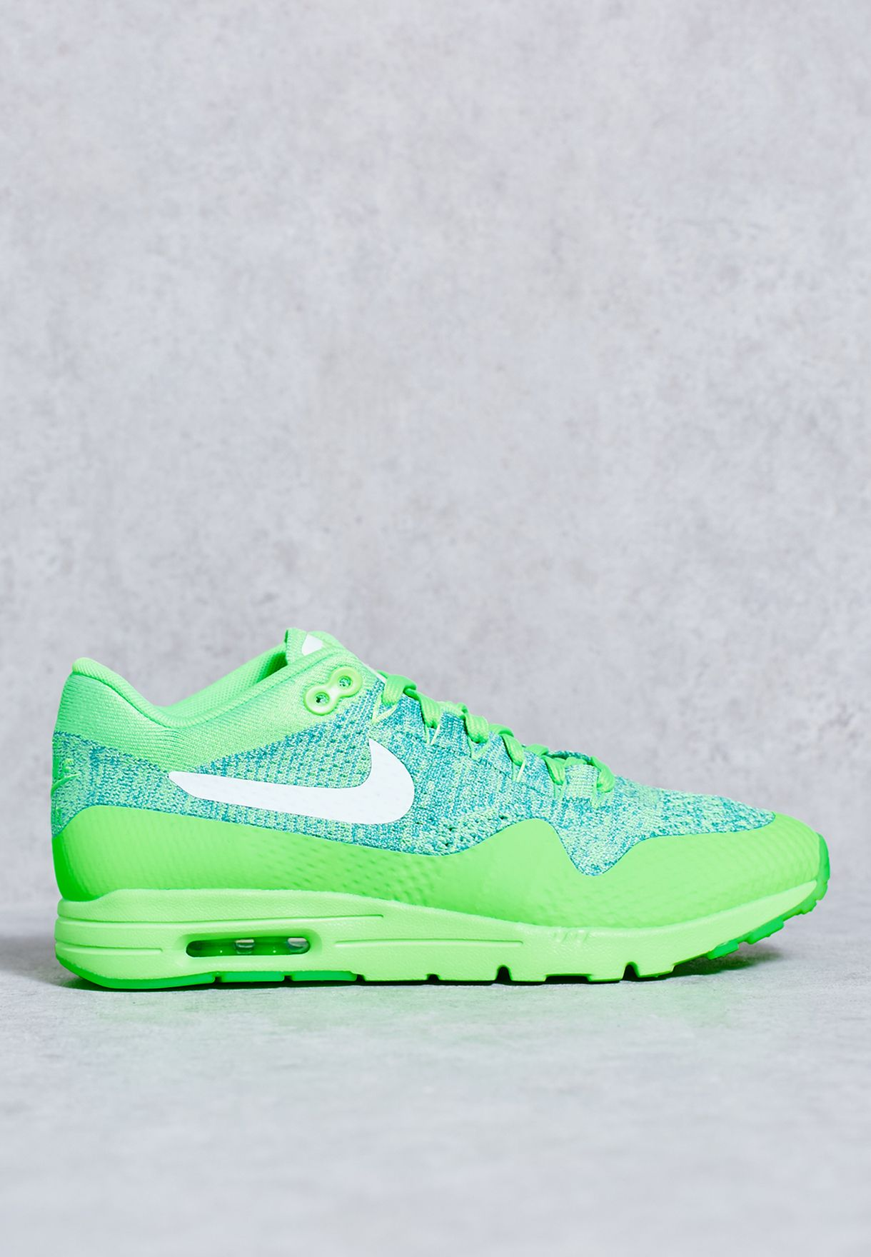 4a994c188a1d Shop Nike green Air Max 1 Ultra Flyknit 843387-301 for Women in UAE ...