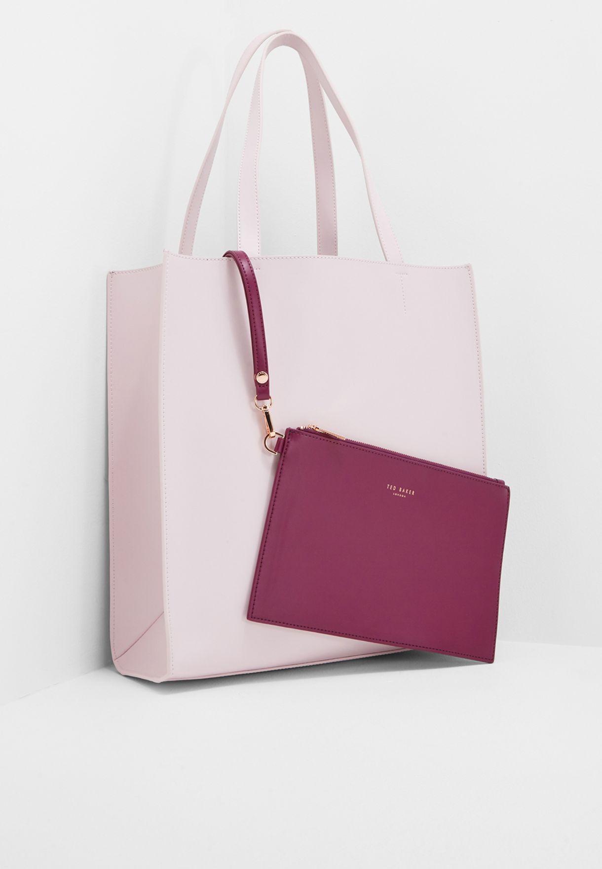 a67260a1e1f2e Shop Ted baker pink Statement Letters Shopper XB88 ELISSA for Women in Oman  - TE456AC60IFJ