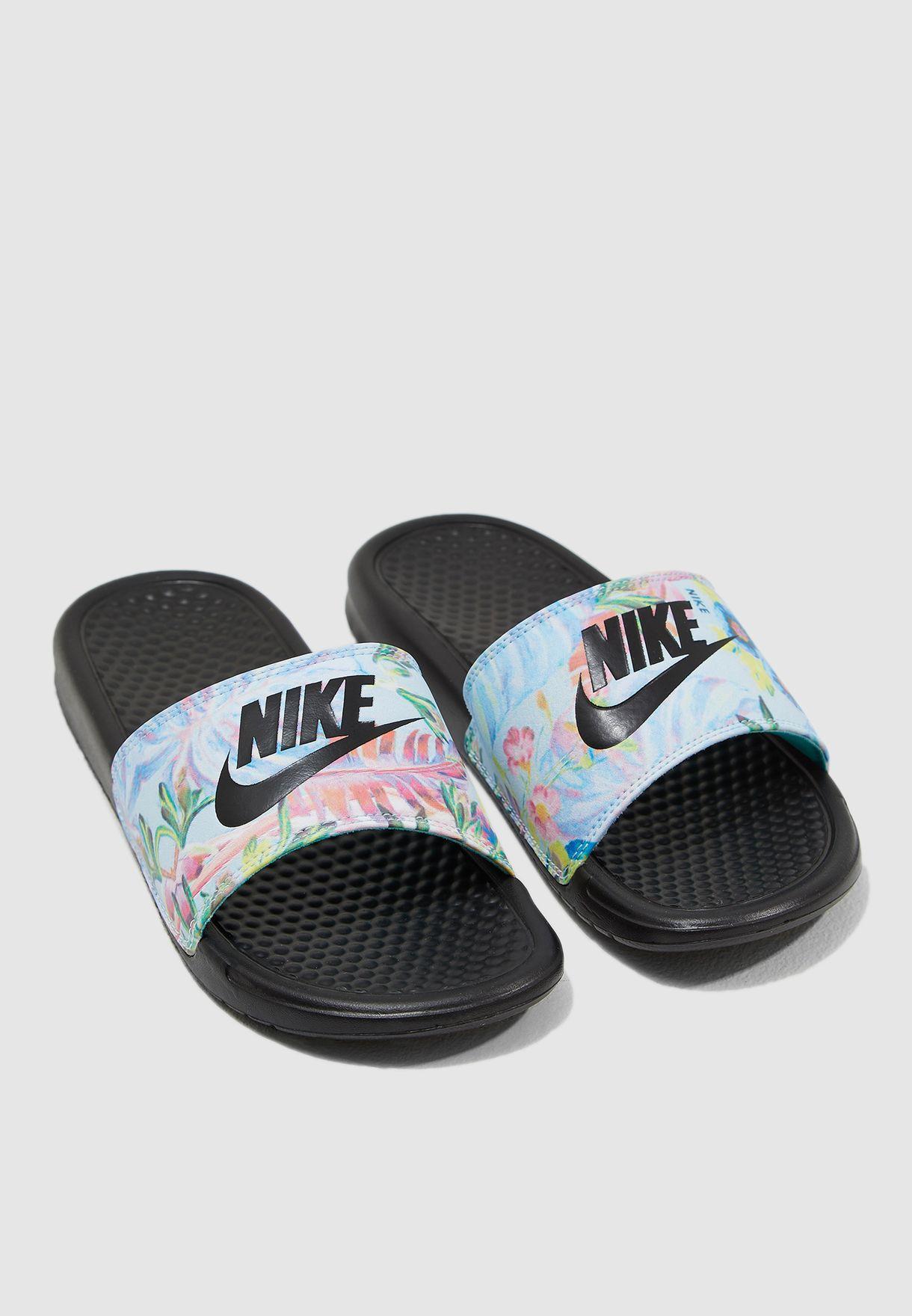 e379ccb69e5d9 Shop Nike multicolor Benassi JDI Print Slides 618919-023 for Women ...