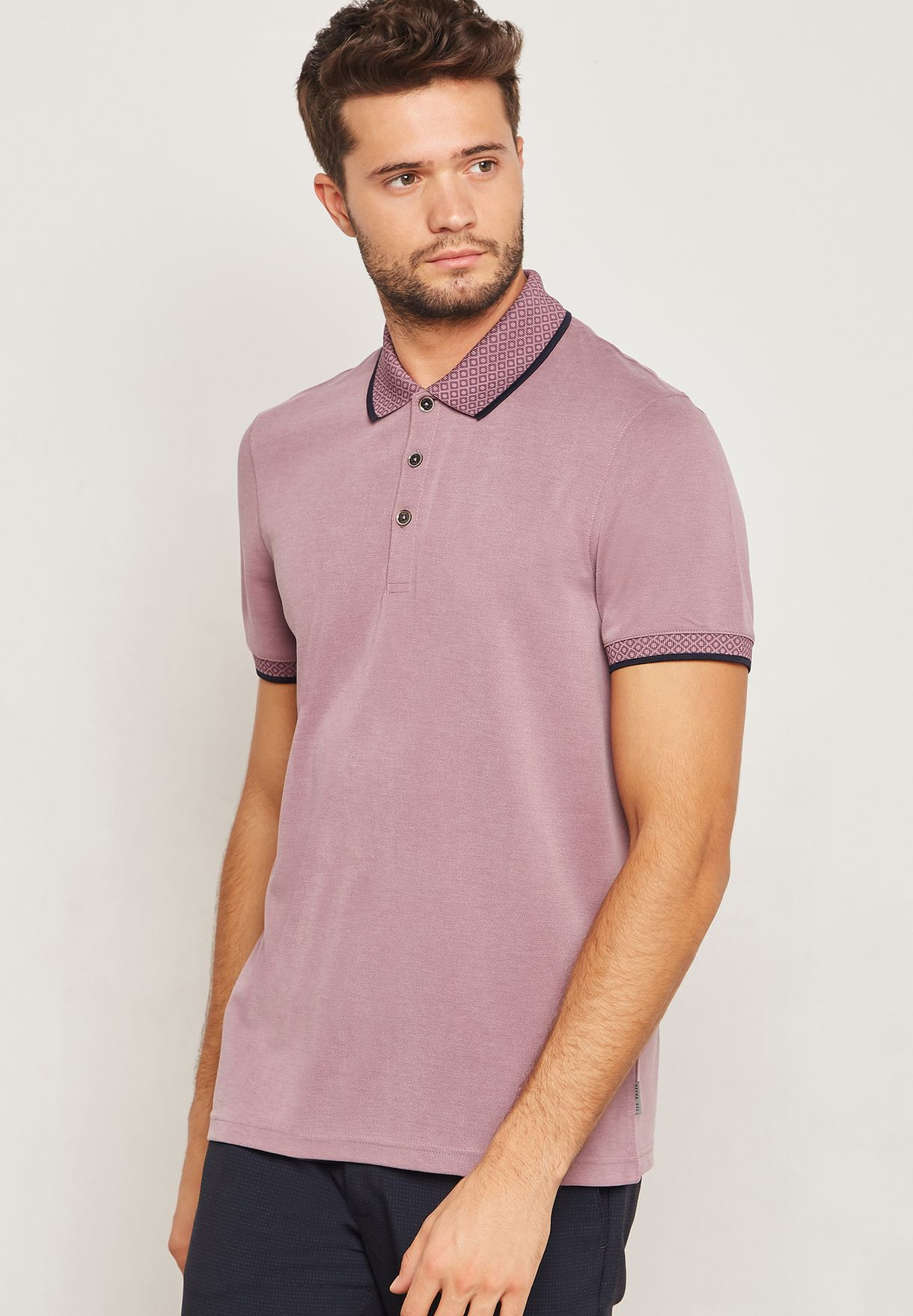 Oxford Knitted Collar Polo