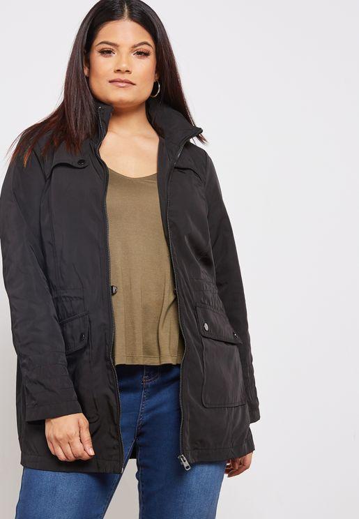 Longline Side Button Jacket