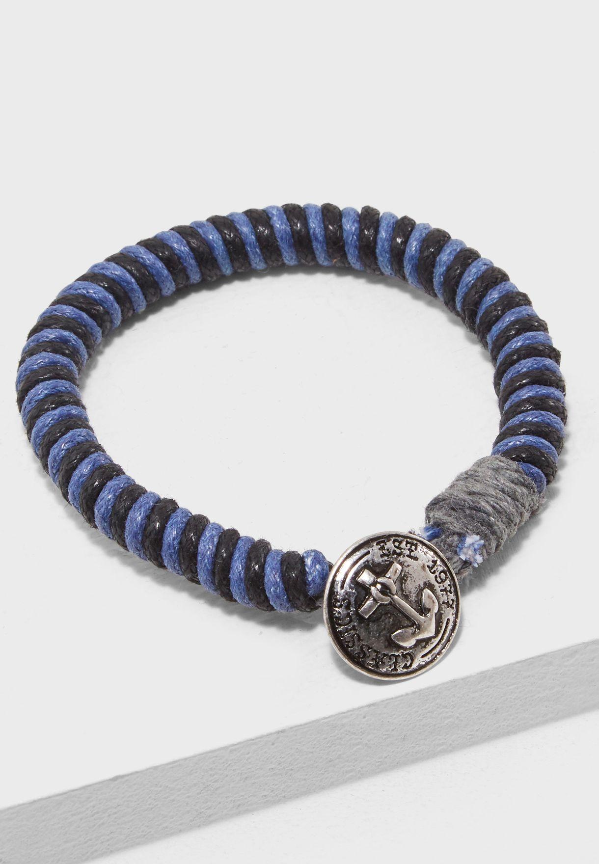Cord Bracelet With Burnis