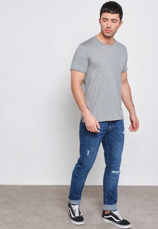 Distressed Slim-Fit Jeans