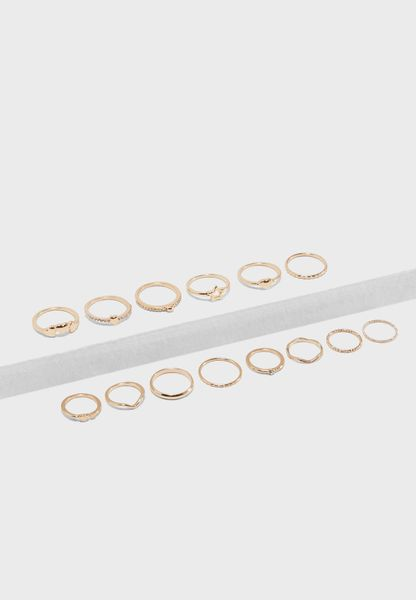 Heart Stackable Ring Set