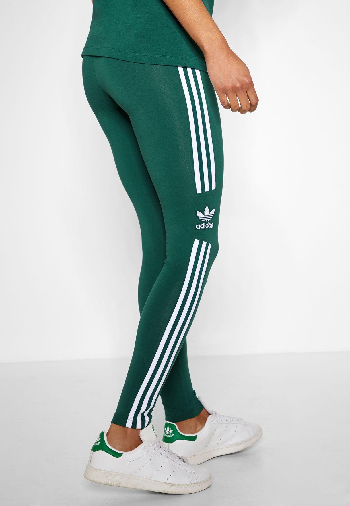 d35313f5a0bf Shop adidas Originals green Trefoil Leggings DV2643 for Women in UAE ...