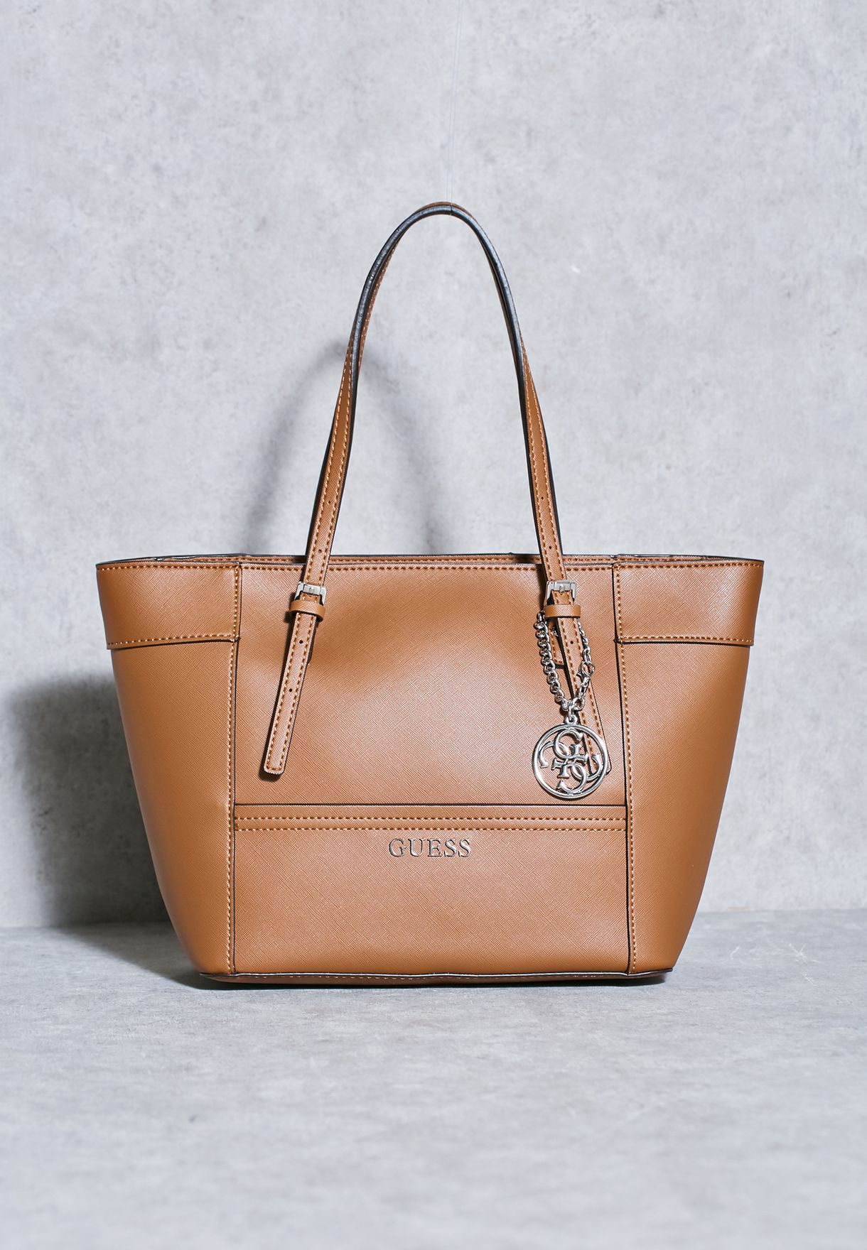 6eebf7d7ccec Shop Guess browns Small Delaney Classic Tote for Women in Bahrain -  GU094AC60UWL