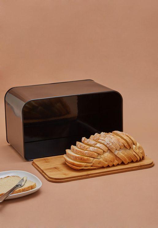Bamboo Lid Bread Box