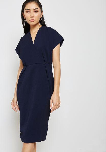 Low Cut Midi Dress