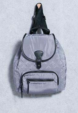 Nylon Quilt Backpack