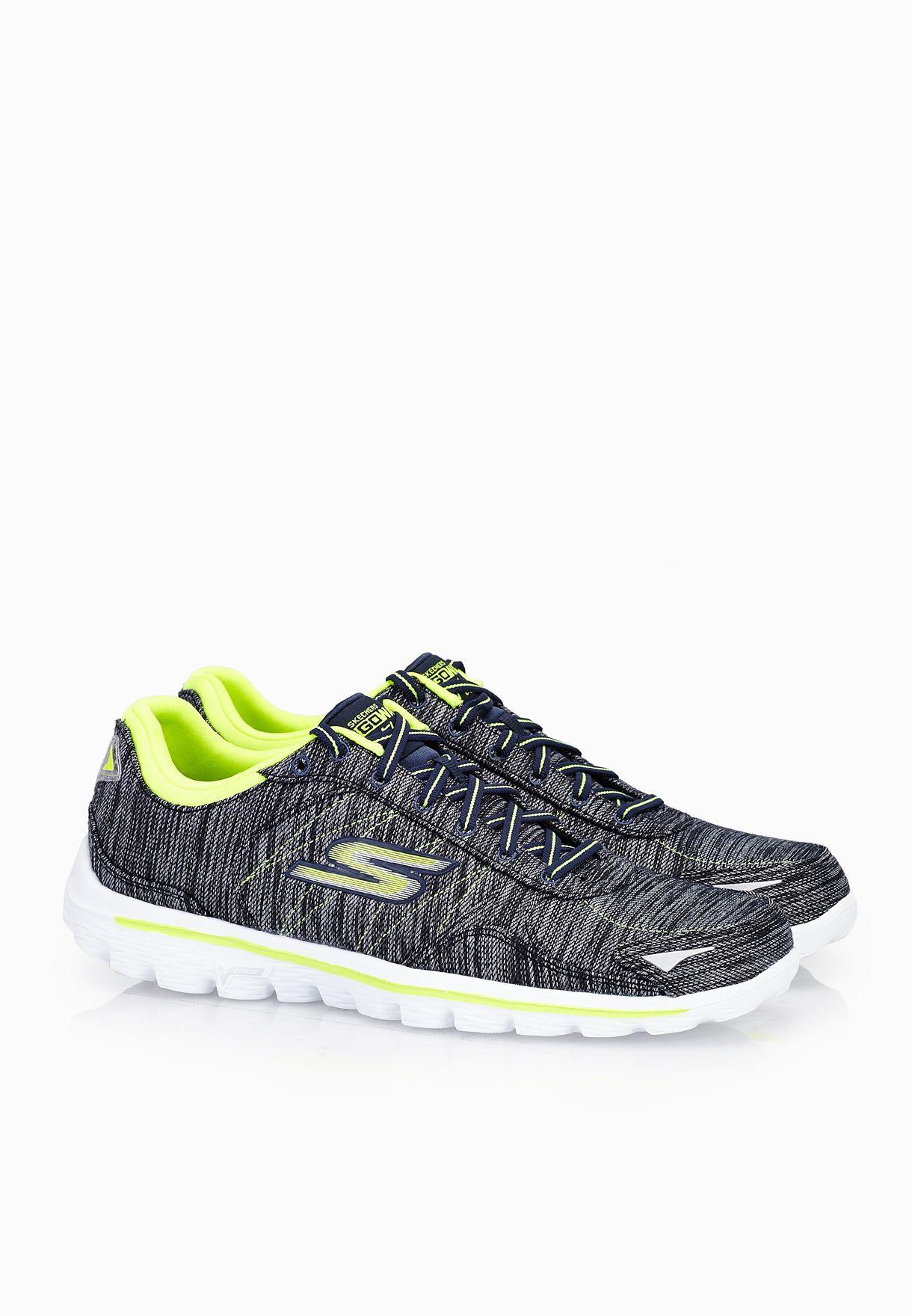 Shop Skechers Grey Go Walk 2 Flash Linear 14020 Nvlm For Women In