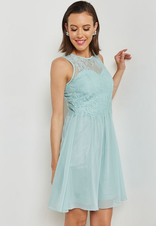 Lace Prom Bridesmaid Dress