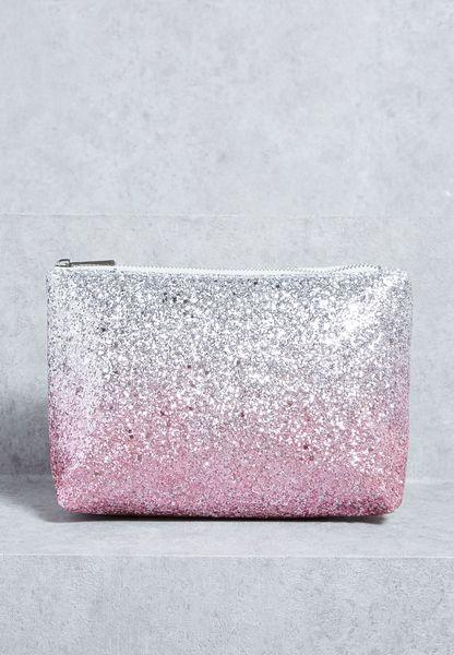 Ombre Glitter Angular Pouch