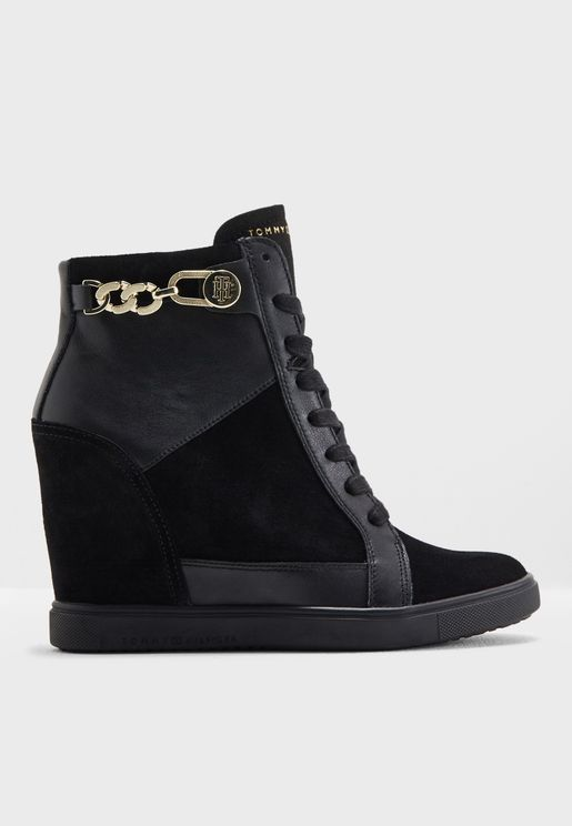 Tommy Chain Wedge  Sneaker