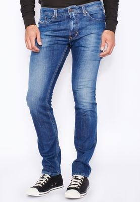 Diesel Thavar Slim Fit Mid Wash Jeans