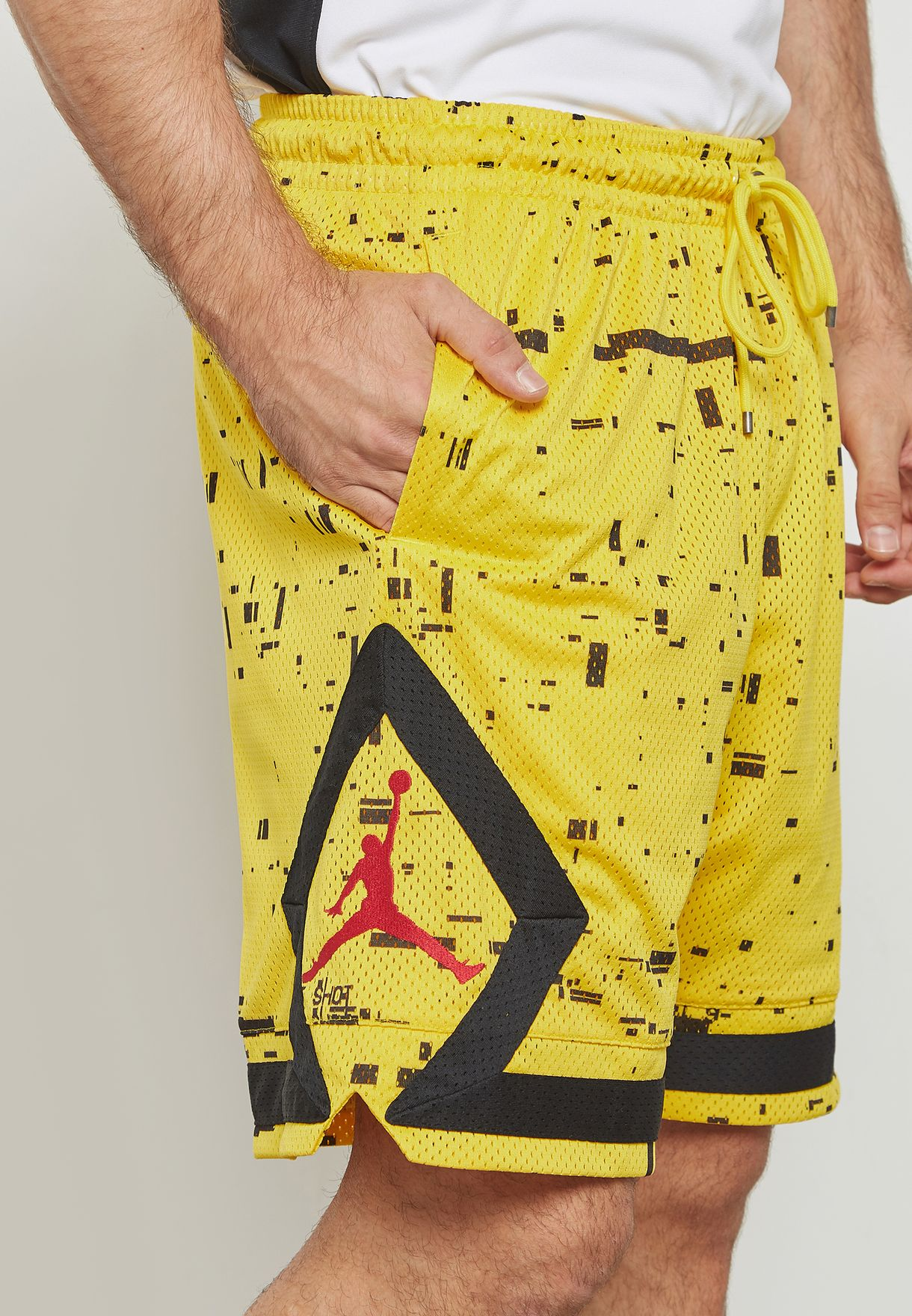 f1f15d1f93c Shop Nike yellow Jordan Last Shot Diamond Shorts AQ0620-719 for Men ...