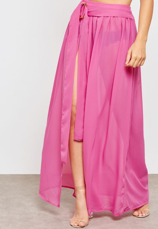 Ring Sheer Maxi Skirt