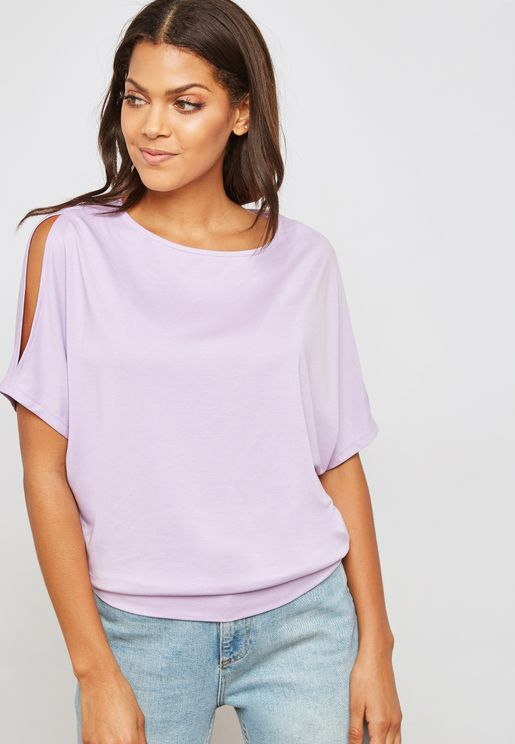 Sleeve Cut Out Top