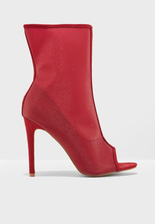 Bellini Mesh Peep Toe Ankle Boot