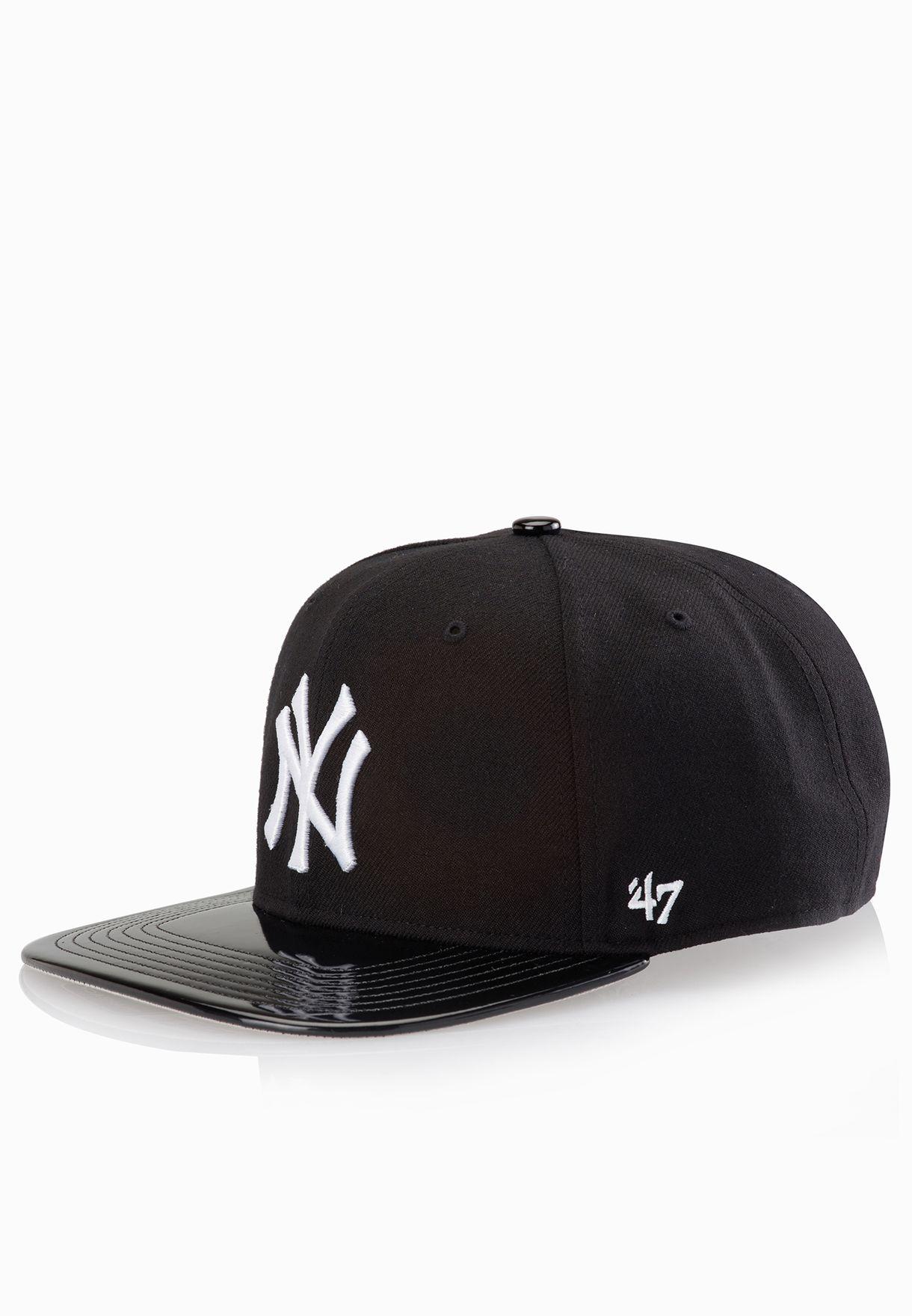 7065cbd742f Shop 47 Brand black New York Yankees Shinedown Snapback Cap B ...