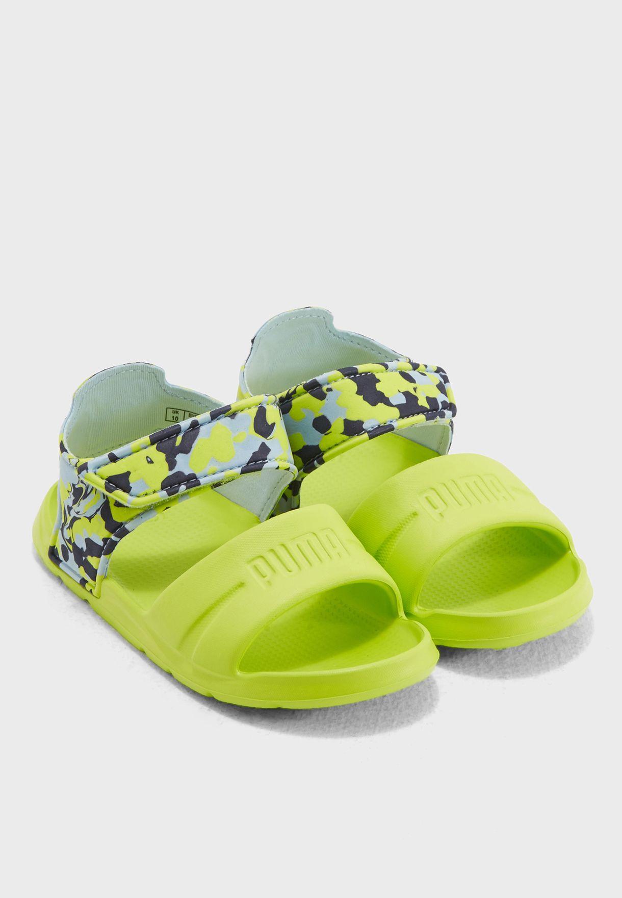 f5b4034c Shop PUMA green Wild Sandal Injex Camo Kids 36508101 for Kids in UAE ...