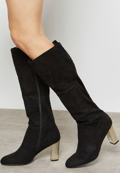 Kerri Golden Heel Boot