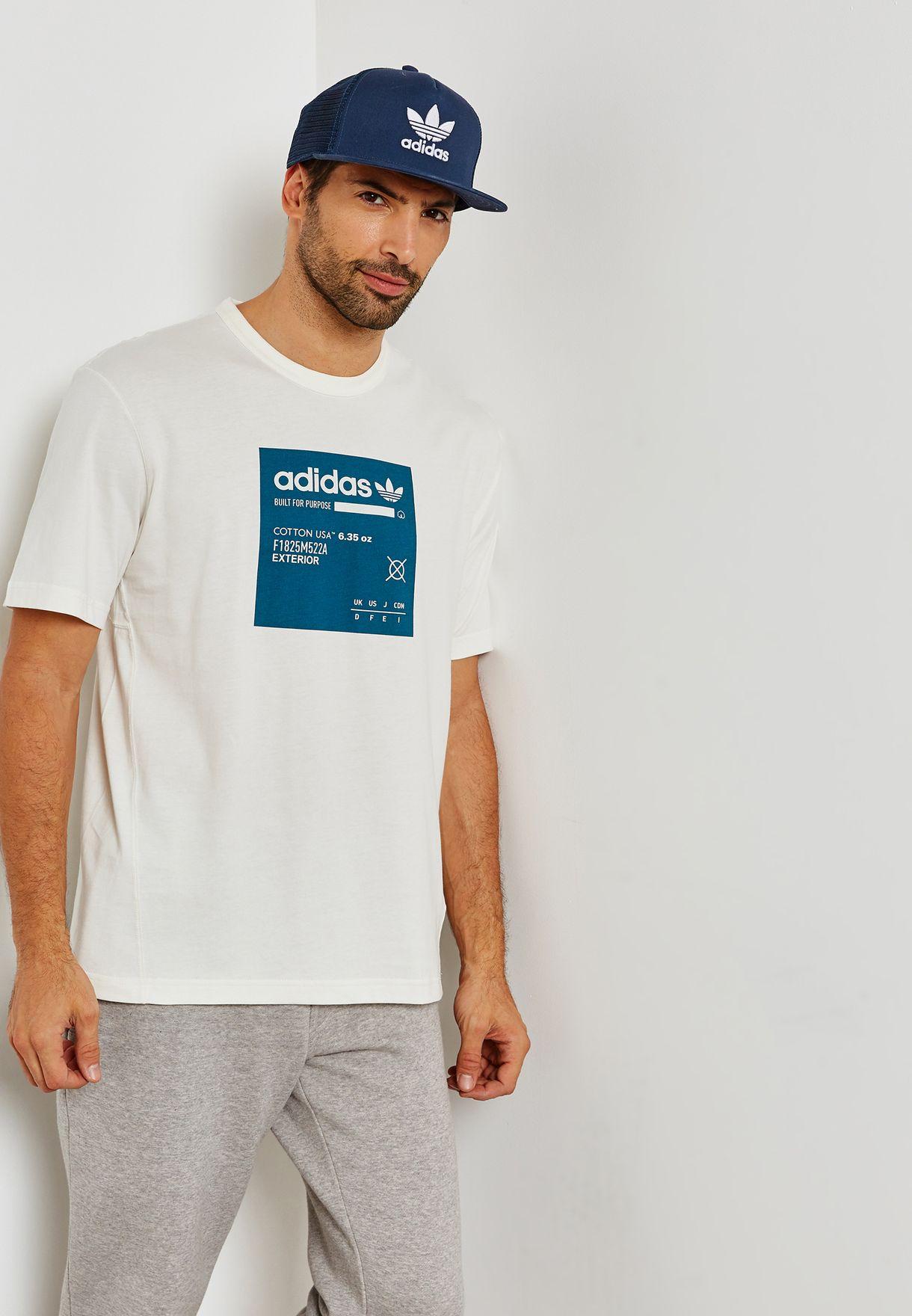 ddf6988c6 Shop adidas Originals white Kaval Graphic T-Shirt DH4944 for Men in ...