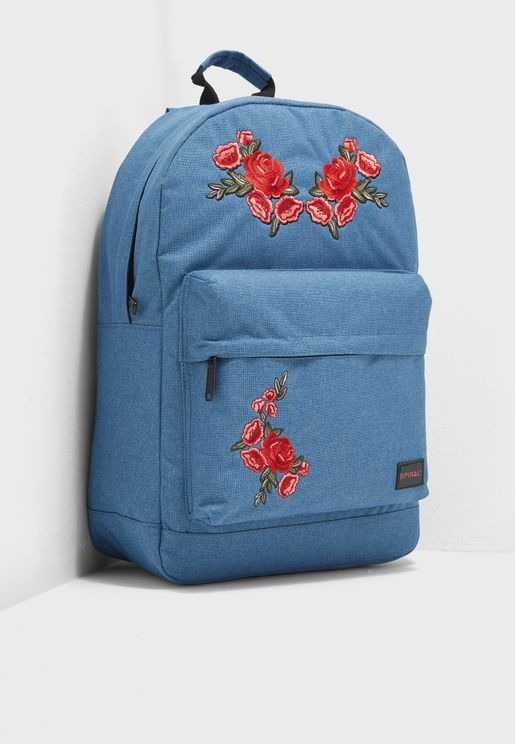 Faux Denim Backpack