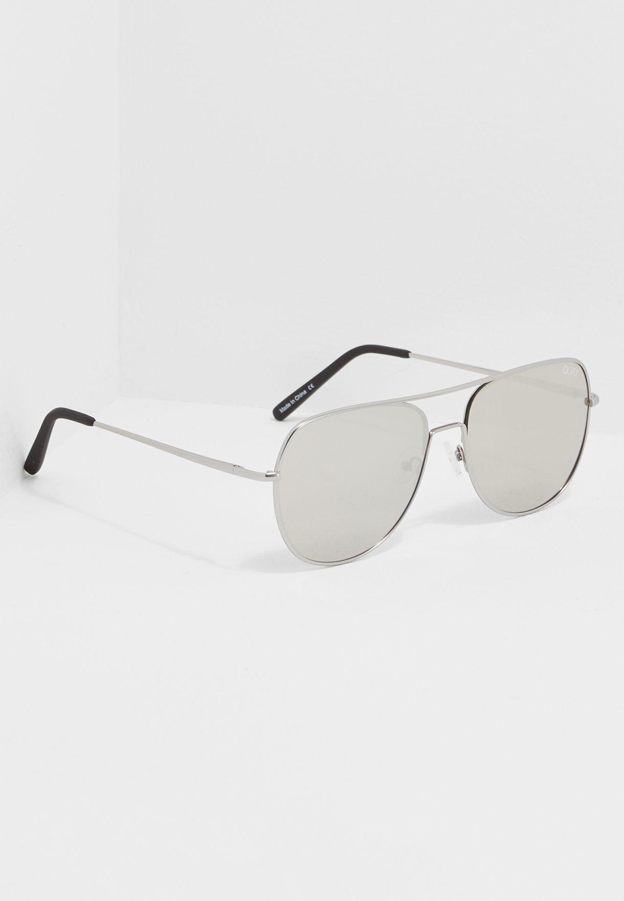 678c1e93ecf0c Shop Quay Australia silver Living Large Sunglasses QM-000200 for Men ...