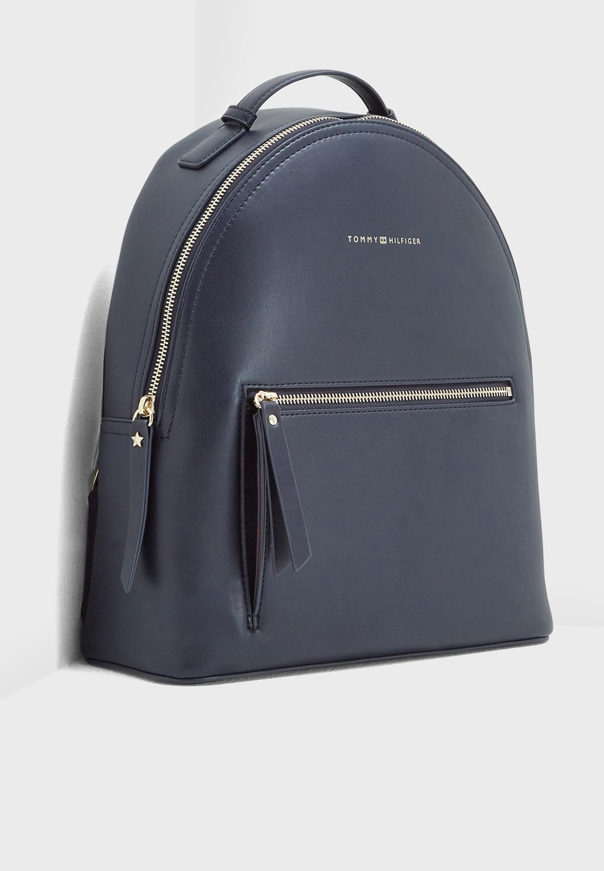 fd4ae5bd8 Shop Tommy Hilfiger navy Iconic Backpack AW0AW05592901 for Women in ...