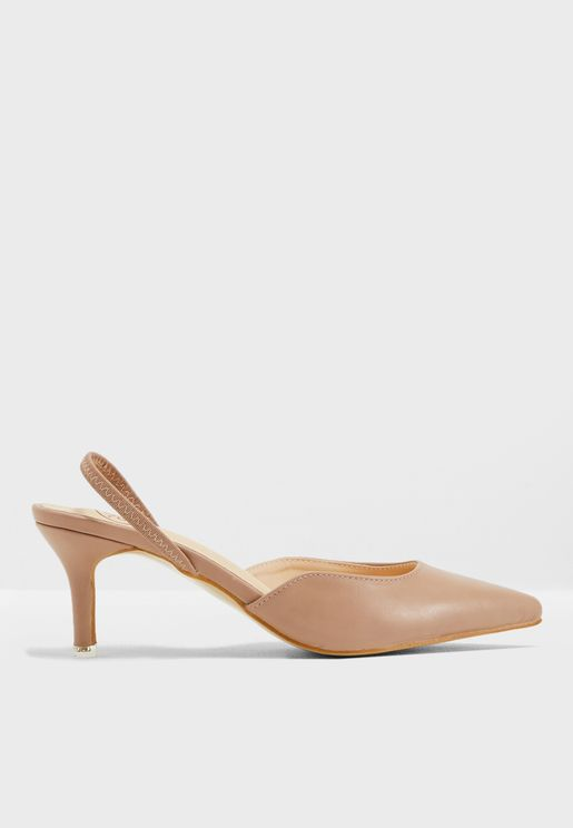Ajah Heeled Pumps