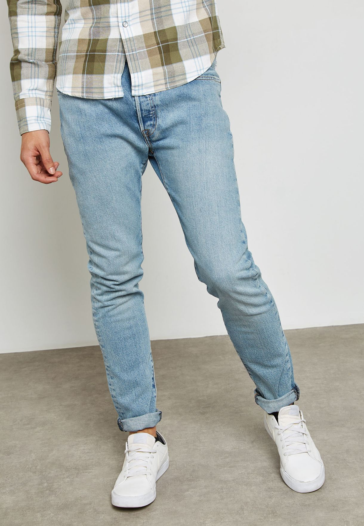 55b19512dc5 Shop Levis blue 501 Skinny Stretch Fit Jeans 342680002 for Men in UAE -  LE426AT50WOV
