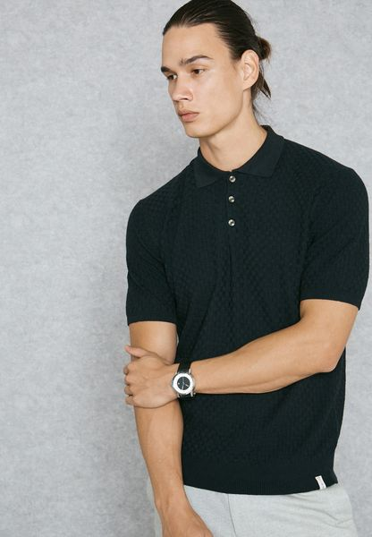 Basket Knitted Polo
